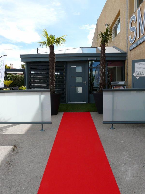 Véranda ou pièce a vivre avec toiture isolante et verre sur Martigues - SMA